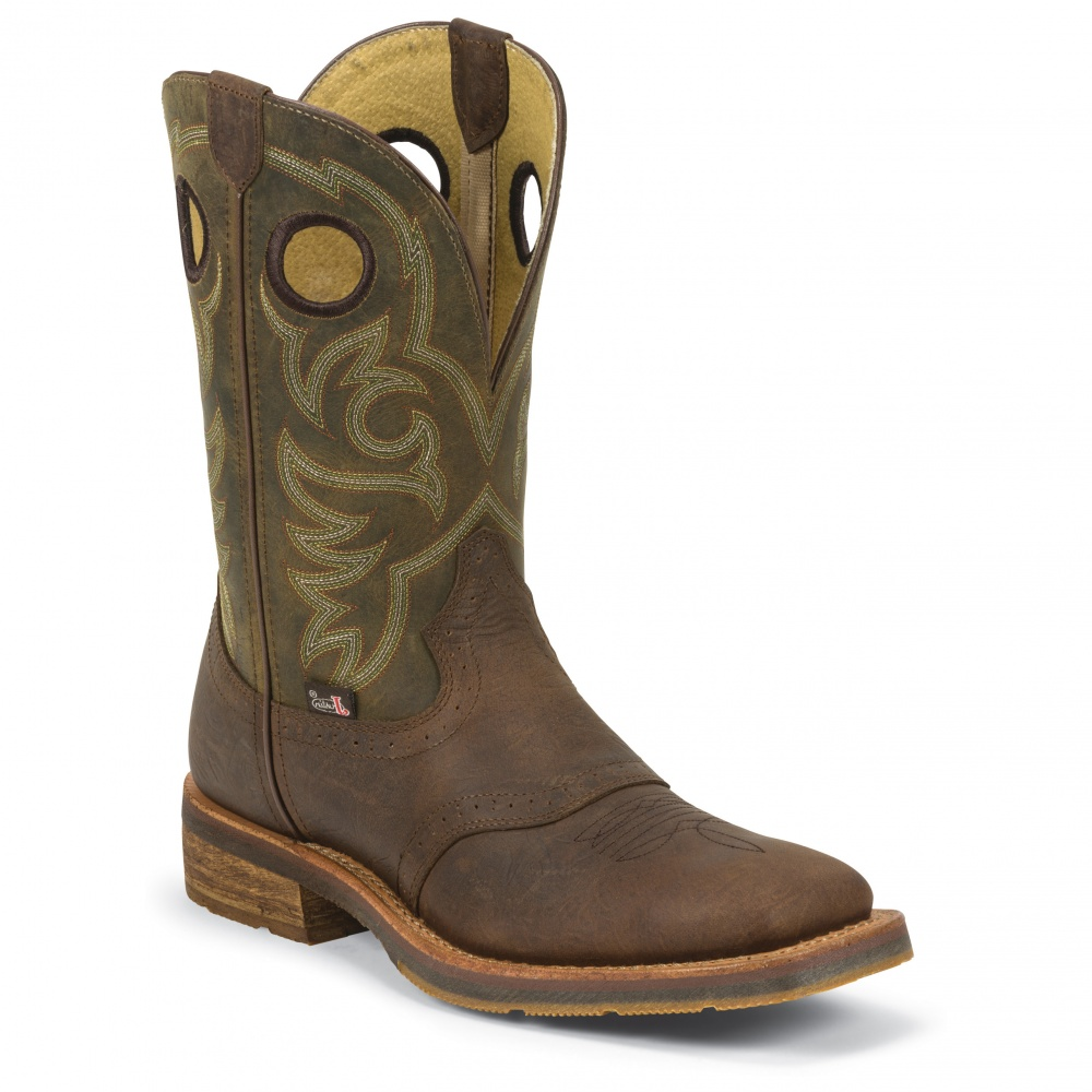 Justin Boots Barnwood Brown