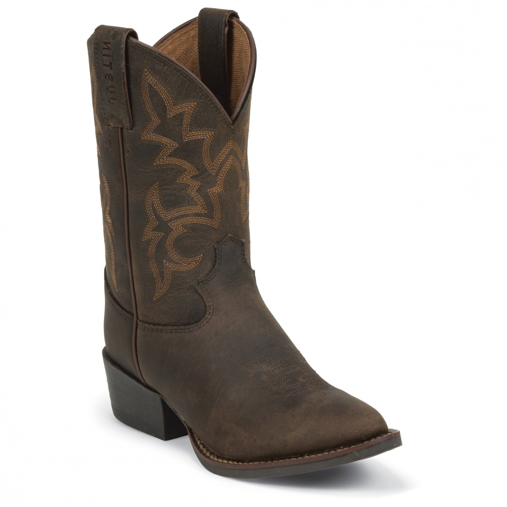 Justin Boots Cattle Brown Buffalo