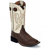 Justin Boots Chocolate Burnished Western (Toddler / Youth)