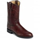 Justin Boots 10inch  Dark Brown Marbled Deerlite Roper