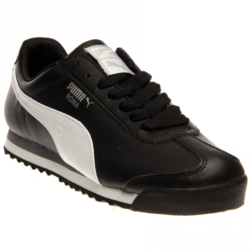 Puma roma black and retro running shoes and free shipping for Piscina g s roma 53 roma