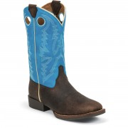 Justin Boots Chocolate Brown Buffalo