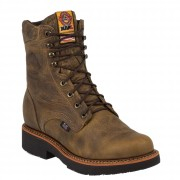 Justin Original Work Rugged Tan Gaucho Steel Toe 8in