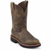 Justin Original Work Rugged Tan Gaucho Steel Toe