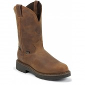 Justin Boots Aged Bark Gaucho Waterproof Steel Toe