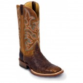 Justin Boots Antique Saddle Full Quill Ostrich