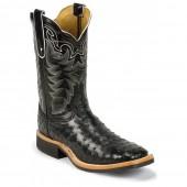 Tony Lama Black Full Quill Ostrich Cowboy Crepe