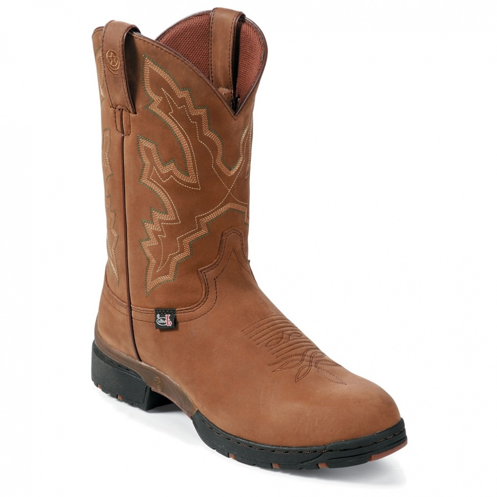 Justin Boots Coffee Westerner Waterproof