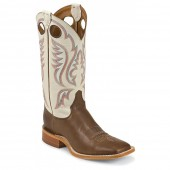 Justin Boots Chocolate Burnished Calf