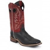 Justin Boots Black Burnished Calf Bent Rail