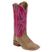 Justin Boots Tan Vintage Cow