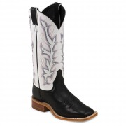Justin Boots Black Burnished Calf