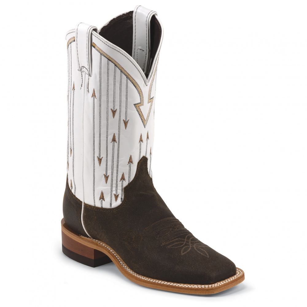 Justin Boots Chocolate Mesquite Cowhide