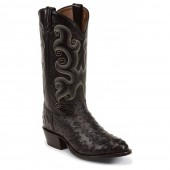 Tony Lama Black Ostrich 13in