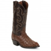 Tony Lama Coffee Ostrich Exotic Western