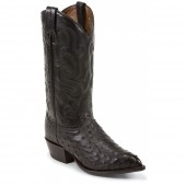 Tony Lama Black Ostrich Exotic Western