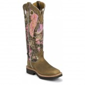 Justin Boots Rugged Tan Gaucho Snake Boots