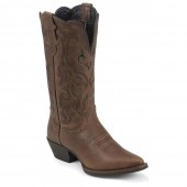 Justin Boots Dark Brown Mustang Cowhide