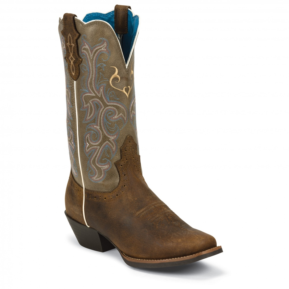 Justin Boots Rugged Tan Cow