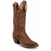 Justin Boots Tan Distressed Vintage Goat Square Toe