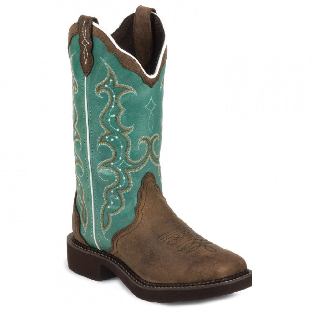 Justin Boots Barnwood Brown Cow 12in