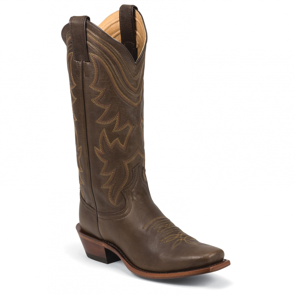 Justin Boots Brown Waxy Cow