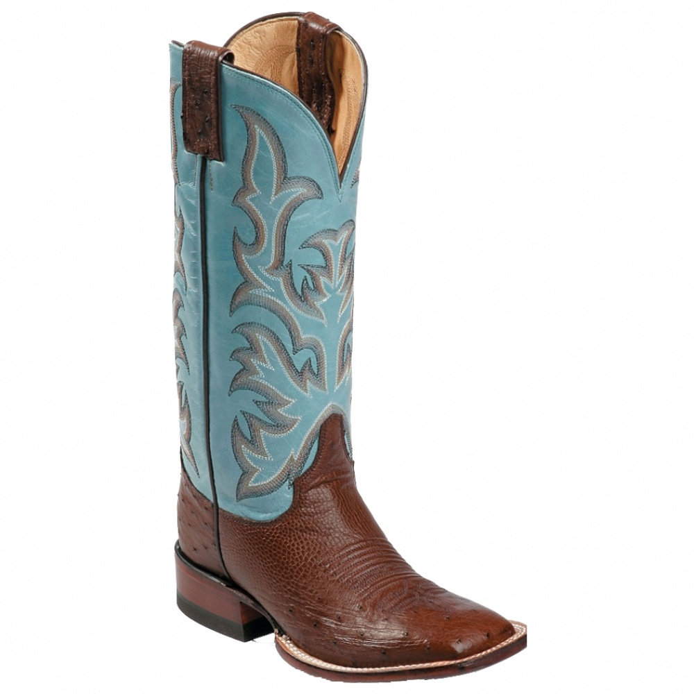 Justin Boots Antique Brown Smooth Ostrich