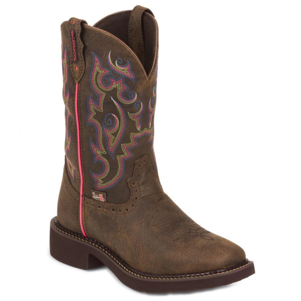 Justin Boots Barnwood Brown Buffalo