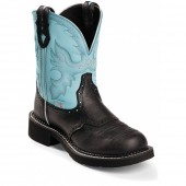 Justin Boots Gypsy Collection Black Deer Cow
