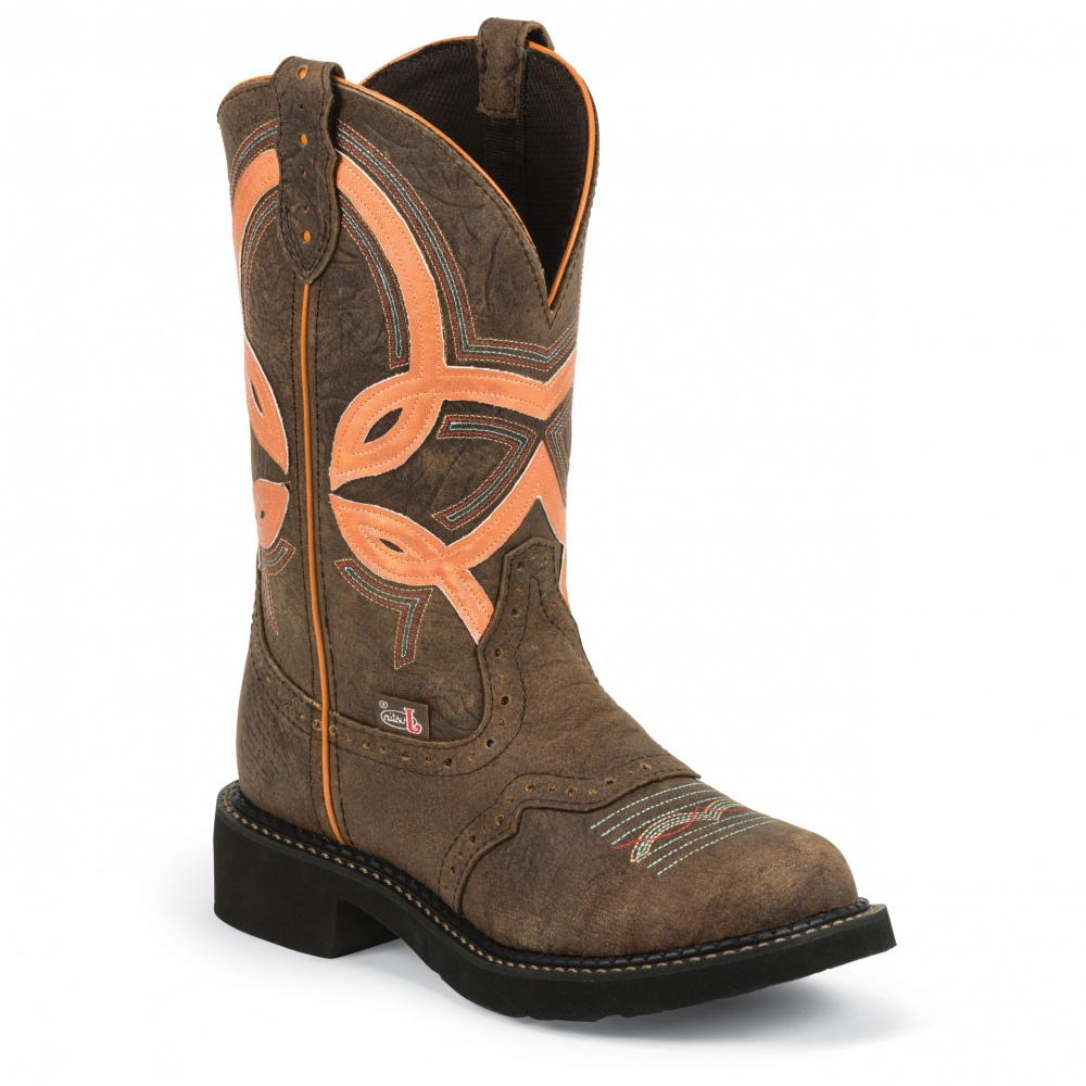 Justin Boots Barnwood Brown Cow 11in