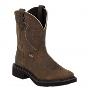 Justin Boots Gypsy Collection Barnwood Brown Cowhide