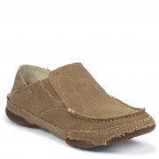 Tony Lama Winter Wheat Canvas Twin Gore Slip-On