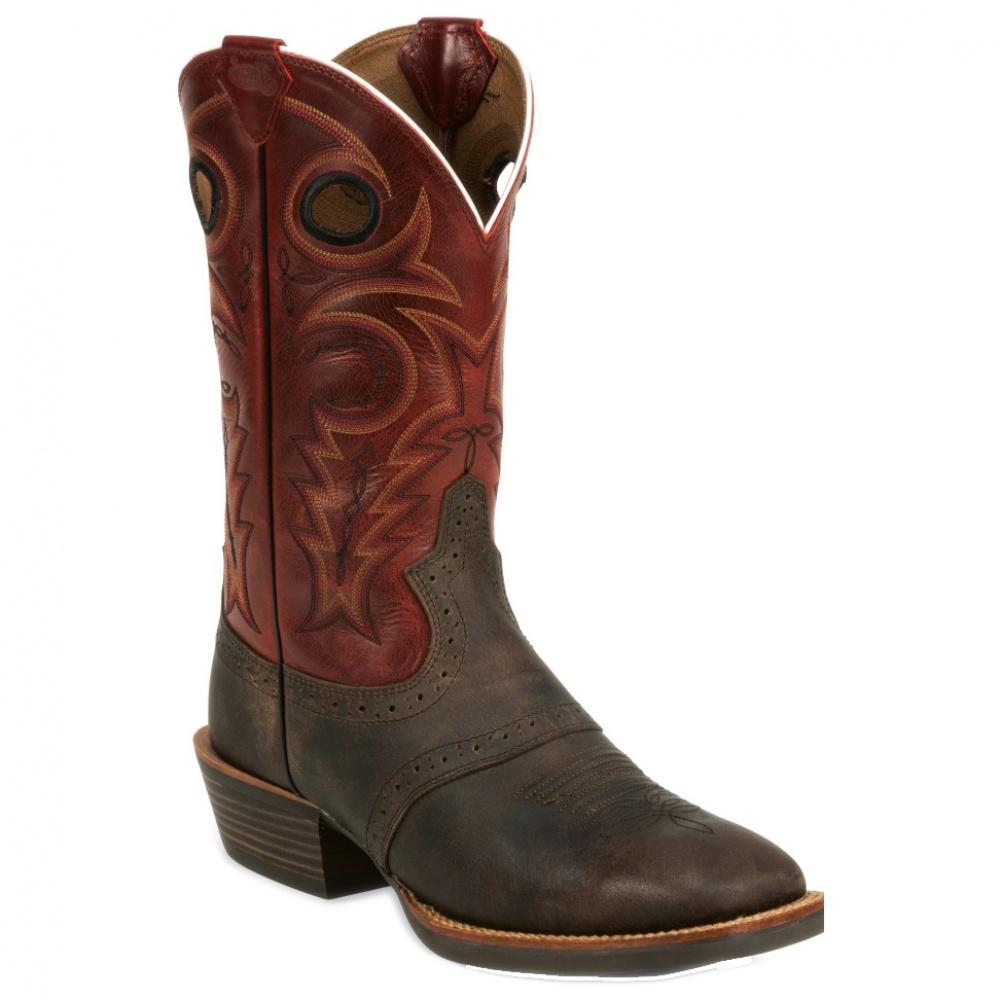 Justin Boots Chocolate Buffalo