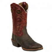 Justin Boots Chocolate Buffalo
