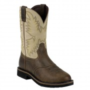 Justin Boots Waxy Brown Steel Toe