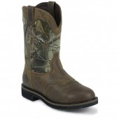 Justin Boots Rugged Tan Cowhide Waterproof