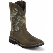 Justin Original Work Rugged Tan Cowhide Waterproof