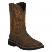 Justin Boots Rugged Tan Cowhide Steel Toe