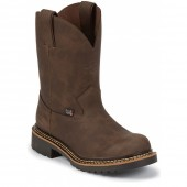 Justin Boots Rugged Bay Gaucho Cow Workboots (Toddler / Youth)