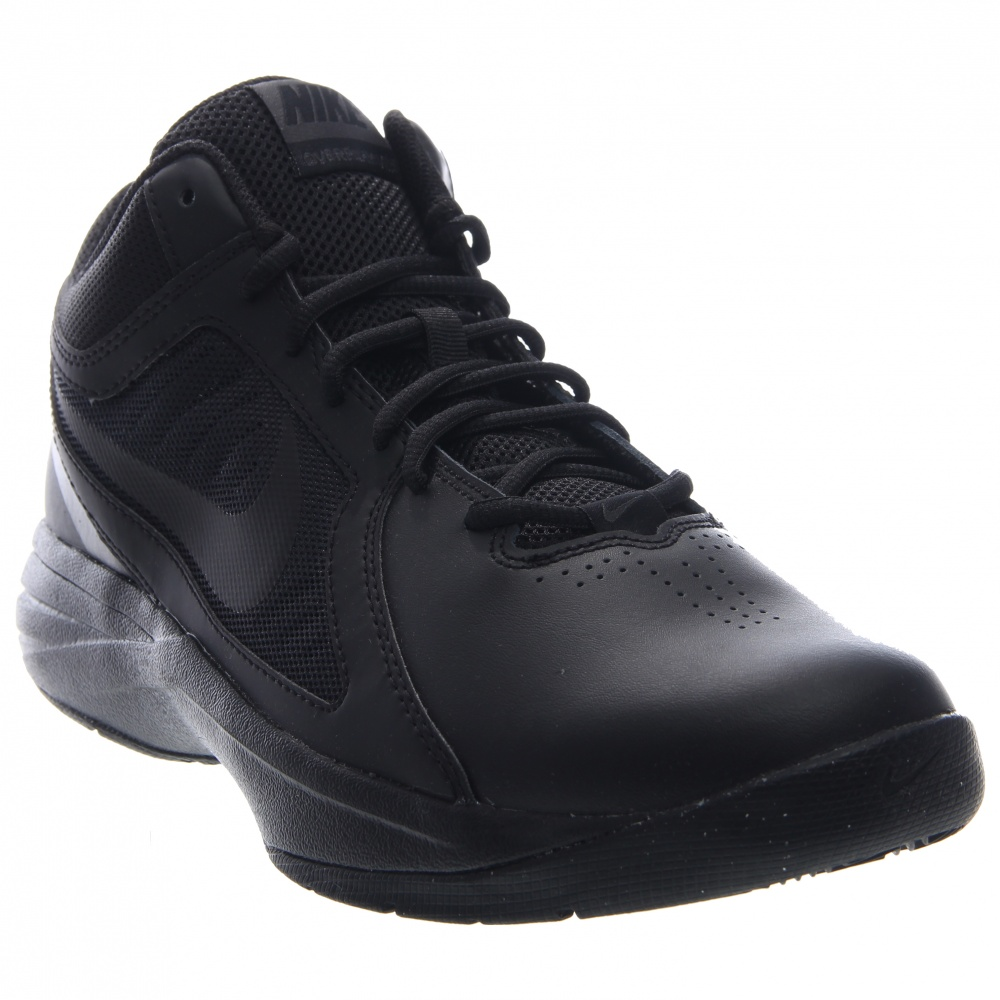 Nike Overplay VIII Mid Combination upper made of synthetic and leather combine to offer style and protectionLace up closure for a snug fitFull-length Phylon midsole with TPU shanks for shock absorption and stabilityPadded tongue and collar for comfortRubber outsole with herringbone tread pattern for grip