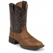 Justin Boots Mahogany Worn Saddle (Toddler)