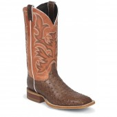 Justin Boots Antique Brown Vintage Full Quill Ostrich AQHA Remuda