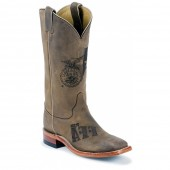 Justin Boots Tan Distressed Cowhide