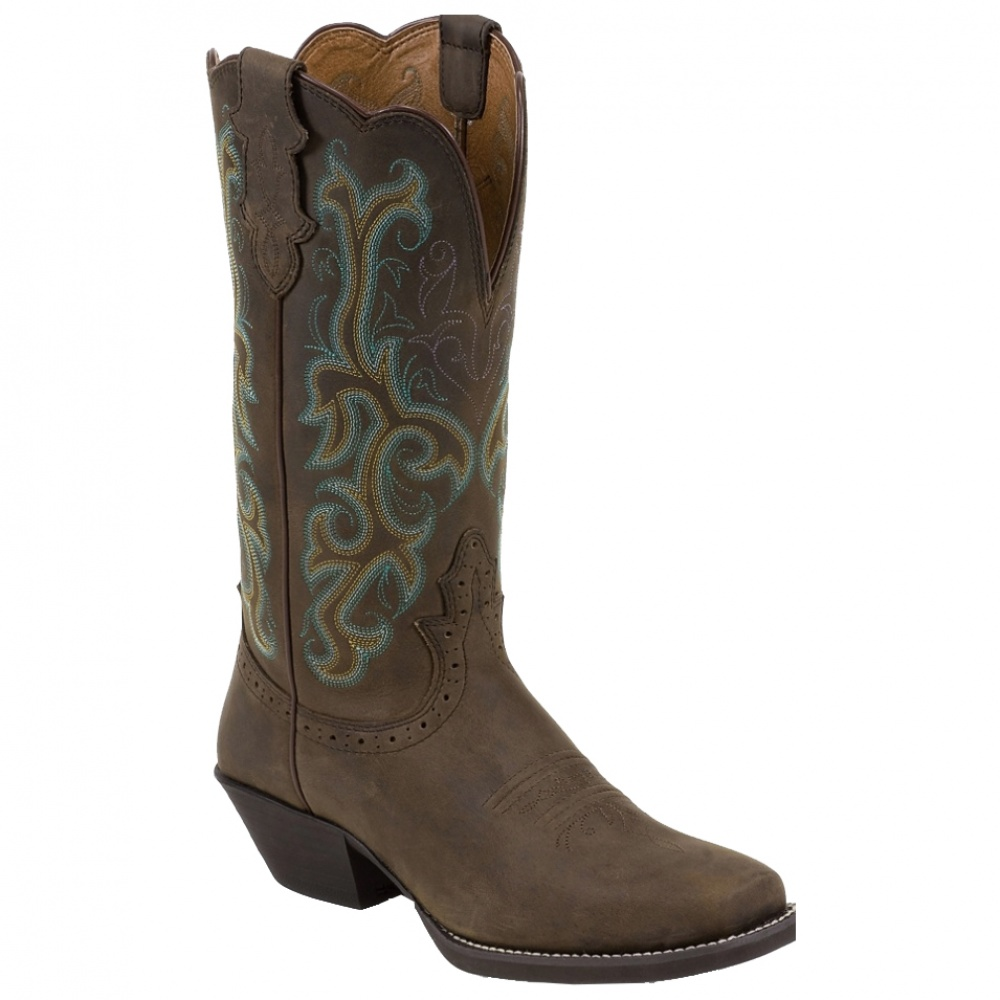 Justin Boots Stampede Sorrel Apache Brown Casual Shoes And