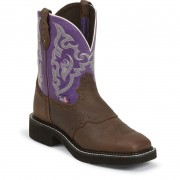 Justin Boots Copper Kettle Buffalo 8in