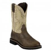 Justin Boots Waxy Brown Steel Toe